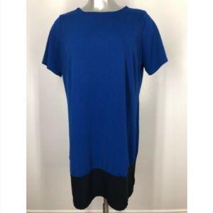 Triste Dress 2X Color Block Shift Blue NWOT